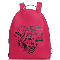Красный рюкзак Love Moschino London, фото
