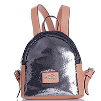 Рюкзак Love Moschino с серебристыми пайетками, фото