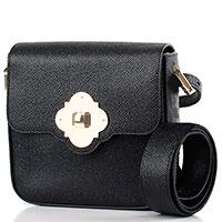 Черная сумка Emporio Armani прямоугольной формы из фактурной кожи, фото