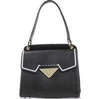 Маленькая трапециевидная сумка Tosca Blu из черной гладкой кожи, фото