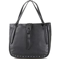 Черная сумка Tosca Blu декорированная стразами и заклепками, фото