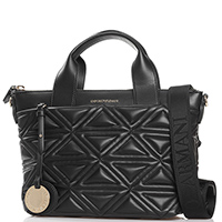 Стеганая сумка Emporio Armani черного цвета, фото