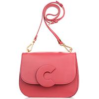 Маленькая сумка Coccinelle Craquant красного цвета, фото