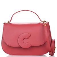 Красная сумка Coccinelle Craquante из гладкой кожи, фото