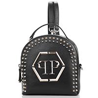 Маленький рюкзак Philipp Plein PP and Studs с декором-заклепками, фото