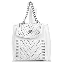 Рюкзак Philipp Plein Tania белого цвета с декором-заклепками, фото