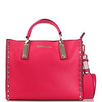 Красная сумка Tosca Blu с золотистым декором, фото