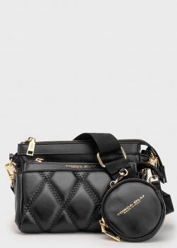 Черная сумка Tosca Blu с косметичкой и монетницей, фото