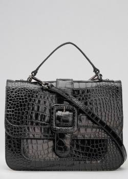Черная сумка Tosca Blu с тиснением кроко, фото