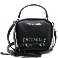 Черная сумка Tosca Blu с надписью, фото