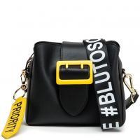 Черная сумка Tosca Blu с цветной пряжкой, фото