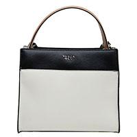 Белая сумка Tosca Blu с черными и бежевыми вставками, фото