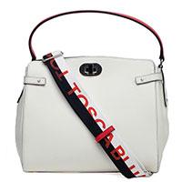 Белая сумка Tosca Blu на широком ремне, фото