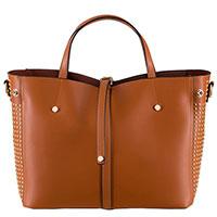 Коричневая сумка Tosca Blu Girasole с декором-заклепками, фото