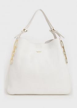 Белая сумка Tosca Blu с золотистым декором, фото
