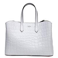 Белая сумка Tosca Blu с тиснением под рептилию, фото
