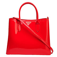 Лаковая сумка Tosca Blu красного цвета, фото