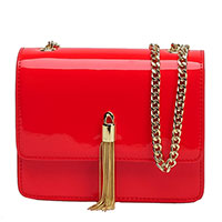 Красная лаковая сумка Tosca Blu на цепочке, фото
