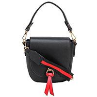 Черная сумка-седло Tosca Blu с кисточкой, фото
