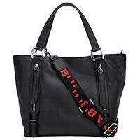 Черная сумка Tosca Blu на широком ремне, фото