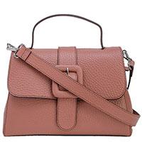 Розовая сумка Tosca Blu с большой пряжкой, фото