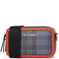 Клетчатая сумка Tosca Blu на широком ремне, фото