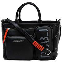 Черная сумкаTosca Blu с накладными карманами, фото