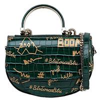 Зеленая сумка Tosca Blu с тиснением под рептилию, фото