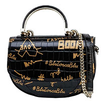 Черная сумка Tosca Blu с принтом, фото