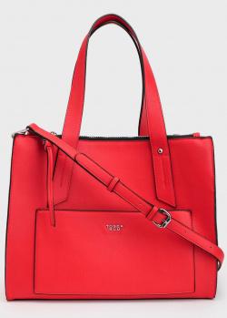 Красная сумка Tosca Blu Rimini с накладным карманом, фото