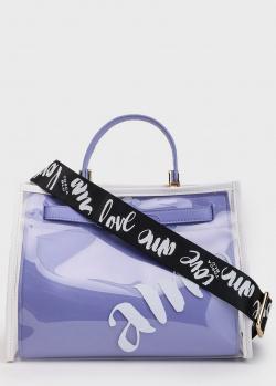 Голубая сумка Tosca Blu Amo с прозрачным верхом, фото