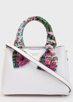 Белая сумка-тоут Tosca Blu Alghero с ярким платком, фото