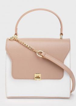 Бежевая сумка-портфель Tosca Blu Capri с белой вставкой, фото