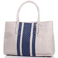 Бежевая сумка Tosca Blu Cattelan из плетеной кожи, фото