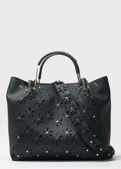Черная сумка Tosca Blu с резным цветочным узором, фото