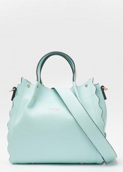 Голубая сумка Tosca Blu с фестончатым краем, фото