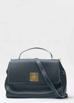 Темно-синяя сумка Tosca Blu трапециевидной формы, фото