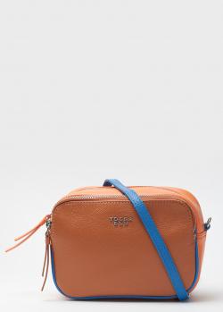 Оранжевая сумка Tosca Blu на контрастном ремне, фото