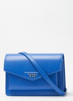 Синяя сумка Tosca Blu из гладкой кожи, фото