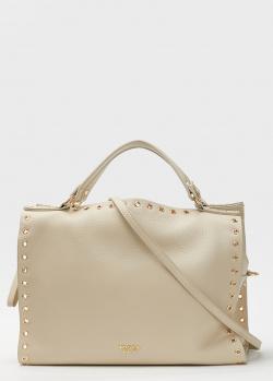 Бежевая сумка Tosca Blu с декором-люверсами, фото