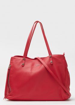 Красная сумка Tosca Blu из зернистой кожи, фото