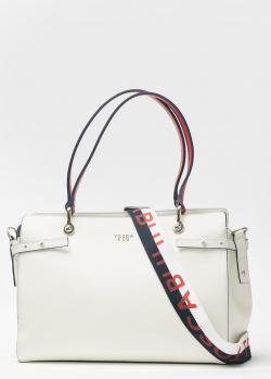 Белая сумка Tosca Blu из зернистой кожи, фото