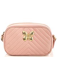 Розовая сумка Twin-Set с геометрической стежкой, фото