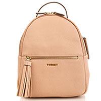 Пудровый рюкзак Twin-Set с декором-кистью, фото
