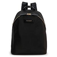 Черный рюкзак Twin-Set с золотистой фурнитурой, фото