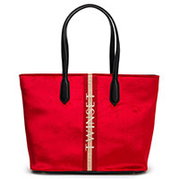 Красная сумка Twin-Set с логотипом, фото