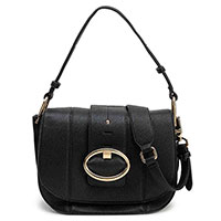 Черная сумка Twin-Set с золотистой пряжкой, фото