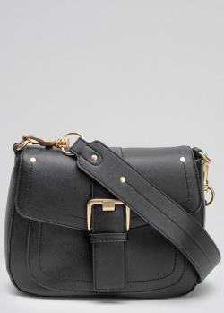 Черная сумка-седло Twin-Set Rebel на широком ремне, фото