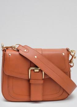 Коричневая сумка-седро Twin-Set Rebel с пряжкой, фото