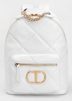 Стеганый рюкзак Twin-Set белого цвета, фото